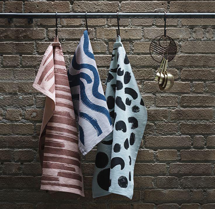 Ferm Living Brush Tea Towels (Set of 3)