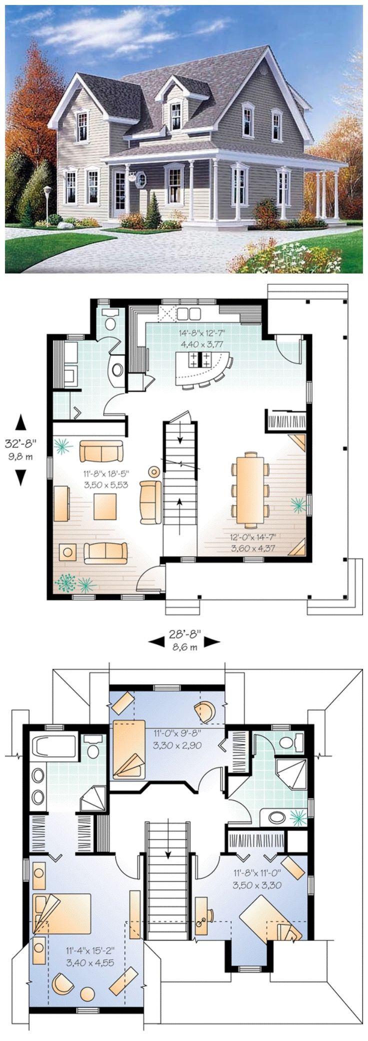 M s de 1000 ideas sobre casas americanas en pinterest - Casas americanas planos ...