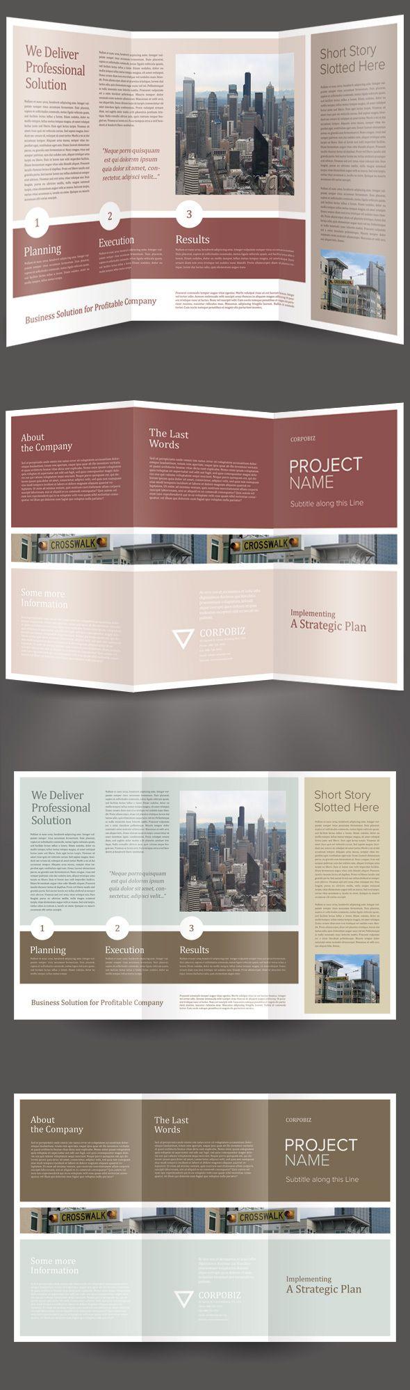 Corpobiz Trifold Brochure Template by Kinzi Wijaya