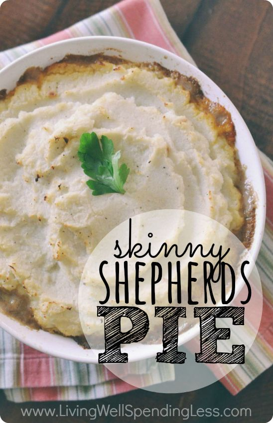 Skinny Shepherd's Pie | Vegetarian recipes, Vegetarian shepherds pie ...