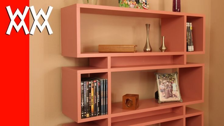 """Shopping for lumber to build furniture can be confusing and time consuming, but this modern style bookcase is built using a single sheet of 3/4"""" plywood."""