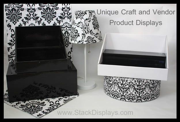 Unique cardboard displays for craft shows, art shows, vendor events, flea markets and farmer's markets!