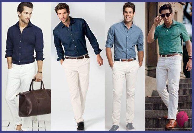 Como Combinar Un Pantalon Blanco Hombre Juvenil Pantalon Blanco Hombres Combinar Pantalon Blanco Como Combinar Pantalon Blanco