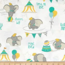 Disney Flannel Dumbo Most Loved White