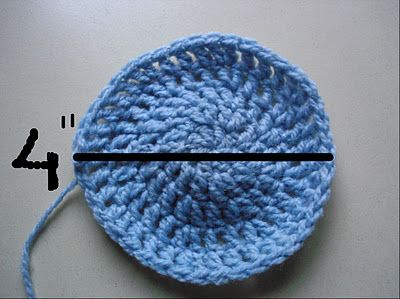 "How to make a crochet hat the right size - I have been using this same method lately. It's hard to follow a pattern exactly when you are constantly using different yarn. For an adult female, the hat should fit if you crochet a circle until it measures 5 1/4"" FLAT (stop your increases at that point). For a man's hat, stop you increases when your circle measures about 6 1/4"" FLAT."