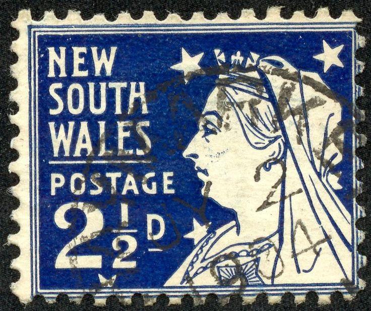 "New South Wales 1899 Scott 104 2½d dark blue ""Queen Victoria"""