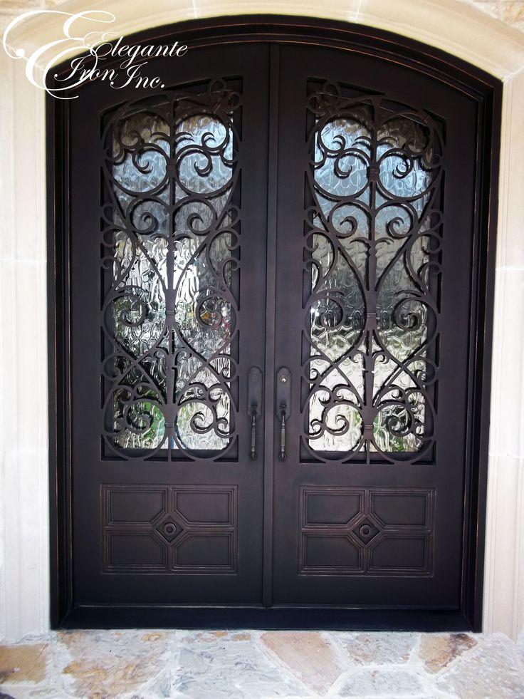 Custom wrought iron front door versatility of sliding