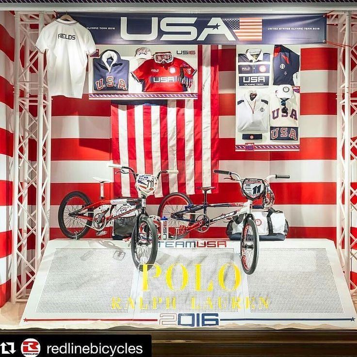 Go #USA !!! #Rio2016 Repost @redlinebicycles -@boxbmx If you happen to be at #NewYorkCity head over to Ralph Lauren Storecheck out their #OlympicGames Theme Window with @alisepost11 replica bike with #BoxComponents #Olympics #proudtobeanamerican  #boxbmx #boxracing #bmx #bmxlife#pedal #bmx4life  Dealers contact #racecomponents #TorcanoIndustries #USA #GOUSA #Olympics #2016 #GOALS
