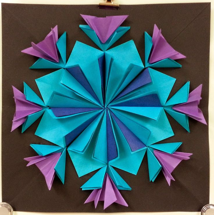 Art with Ms. Gram: More Radial Paper Relief Sculptures (4th)