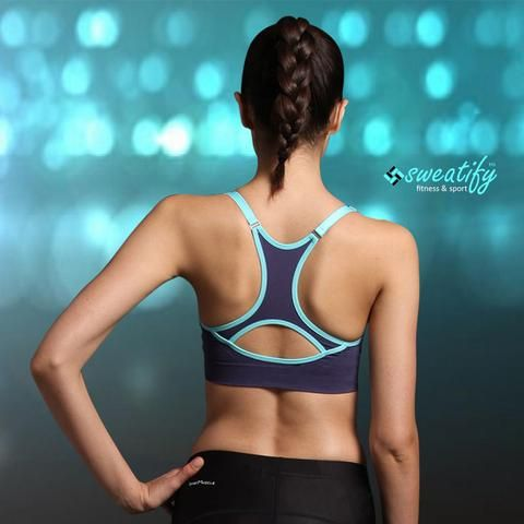 Sweatify Push Up Fitness Bra with Adjustable Strap for Running, Workout, Sports & Yoga