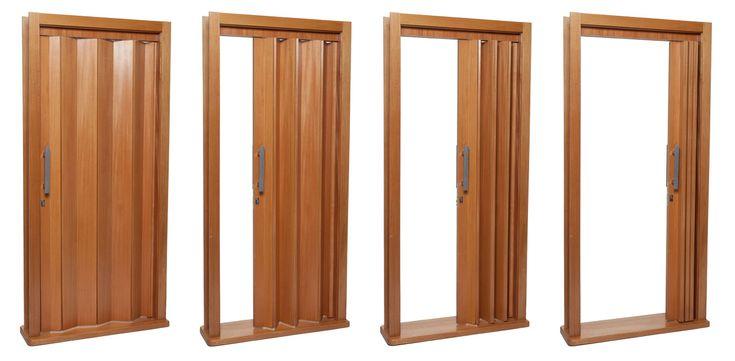 Porta sanfonada parecida com porta de madeira