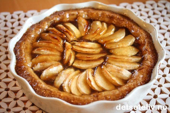 Apple Cinnamon Caramel Tart   Det søte liv