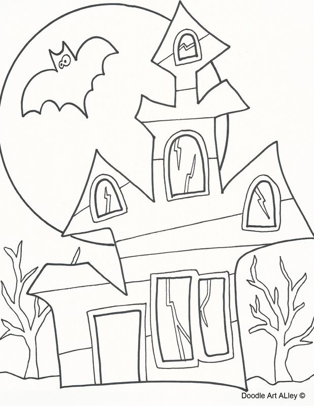 80 best Color - Halloween images on Pinterest | Coloring books ...