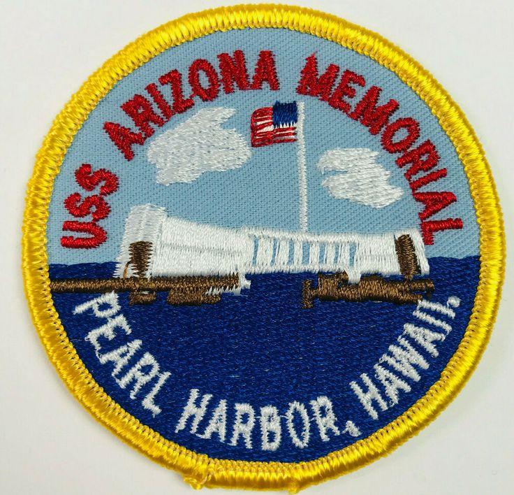 USS Arizona Memorial Pearl Harbor Hawaii US Navy Patch 3