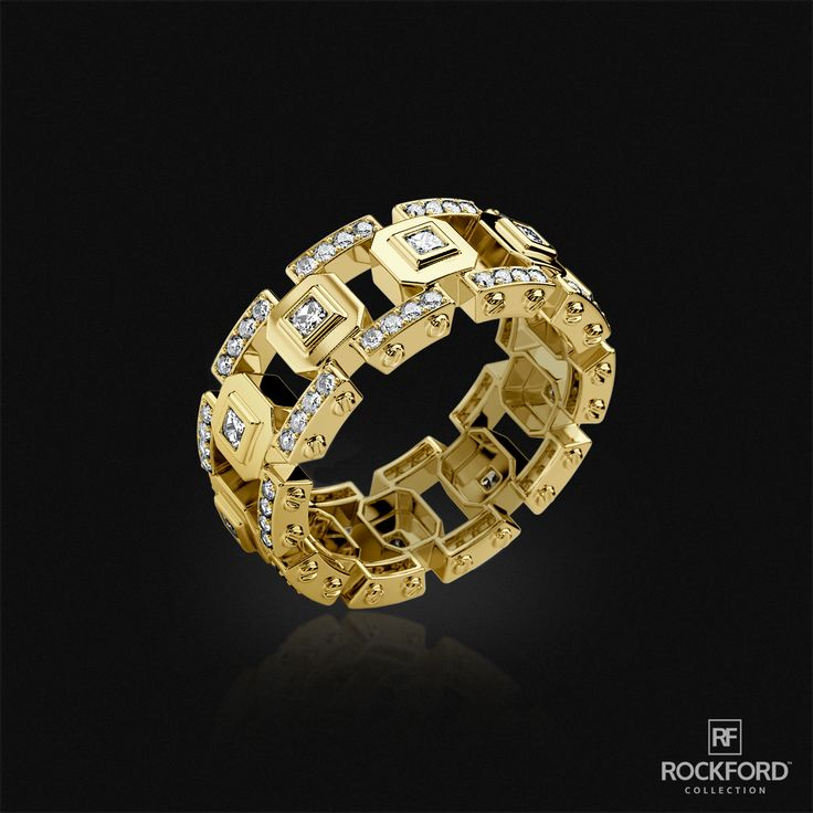 All gold all day LA PAZ ring by Rockford Collection. Enjoy the finer things in life! SHOP at www.rockfordcollection.com  Worldwide Shipping