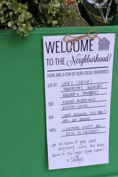 Adding something softer to the neighborhood welcome pack?