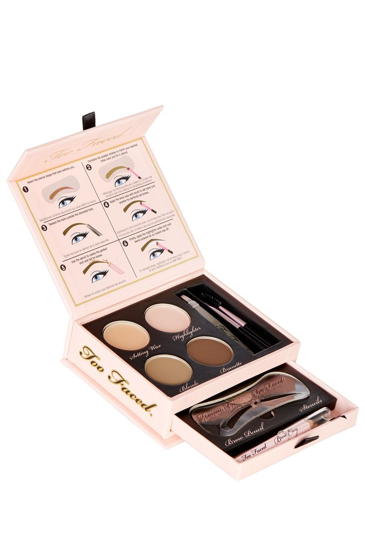 Too Faced Brow Envy Kit :: ONLY $15!!! on HauteLook right now!! (This sucker is normally $35 and it's on my Sephora list! SWEET DEAL! It comes w/ 3 eyebrow stencils, setting wax, highlighter (which I actually use to sweep over my eyebrows to tone down the brown powder), Blonde and Brunette shades (which can be mixed), brown pencil, tweezers, and angled brush with brow comb!