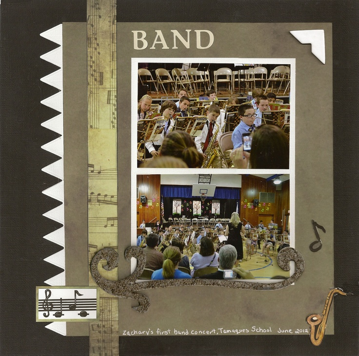 June 2012 layout color challenge band scrapjazz com