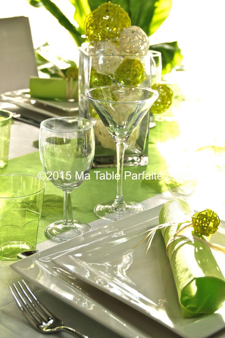 Box Deco de Table vert anis et blanc En vente sur http://www.matableparfaite.com/fr/deco-de-table/deco-de-table-mariage/vert-anis-et-blanc-13/vert-anis-6/