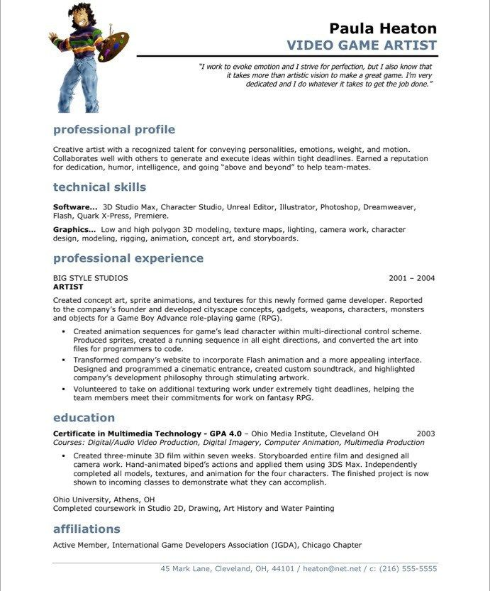 16 best Media \ Communications Resume Samples images on Pinterest - video game programmer sample resume