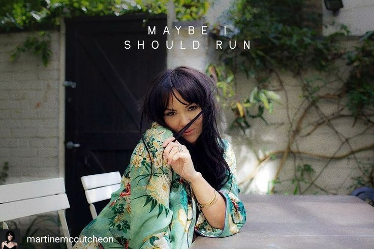 Credit to @martinemccutcheon : GIVING AWAY some copies of my single 'Maybe I Should Run' ⭐ let me know what this song means to you for the chance to win 😘