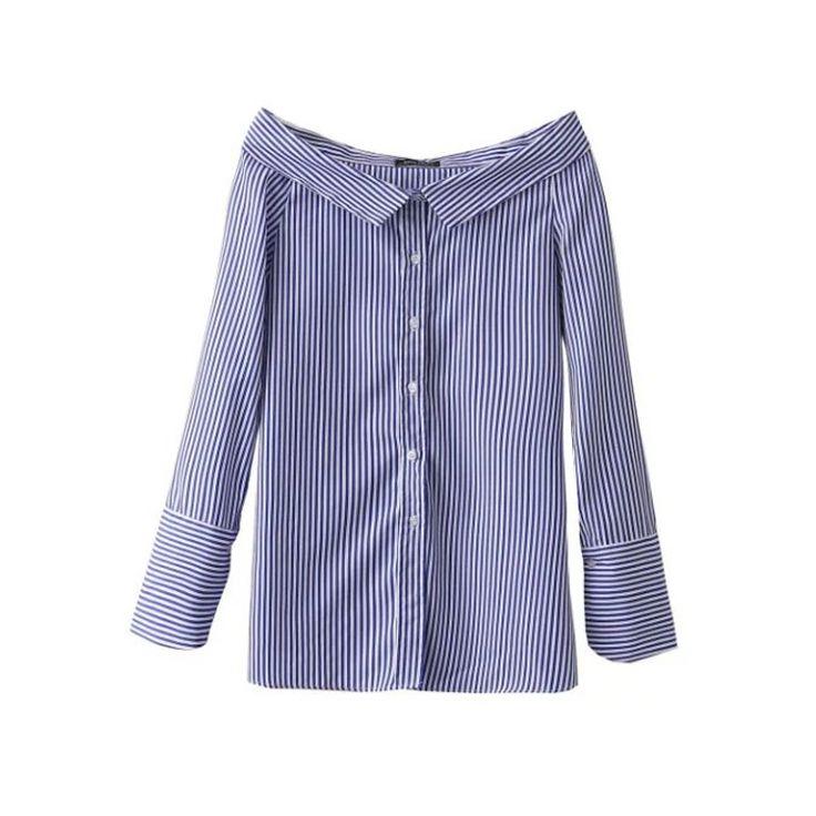 Strapless Collar Shirt  (B0081)   #caterpillar #barnard #lafond #bernardlafond #cottage glaze #groove #moda #shop #shopping #blouse #womenblouse #girlsblouse #shop