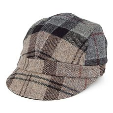 Barbour Hats Redstone Tartan Baker Boy Cap - Grey-Beige