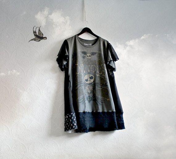 Grey Tunic Top Women's Plus Size Halloween by BrokenGhostClothing, $65.00