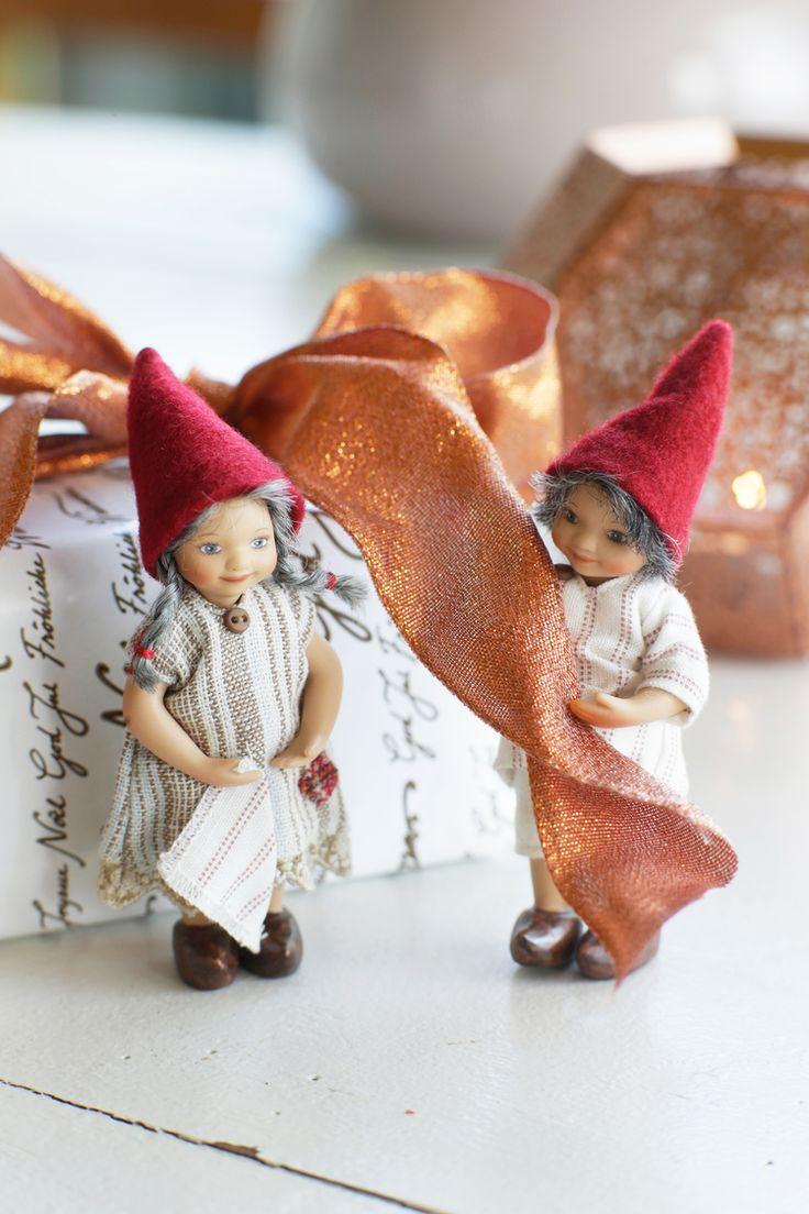 Frigast nisserne er klar til besøg ... Kig forbi Megan Art og se det store udvalg i Frigast nisser og andre julerier.