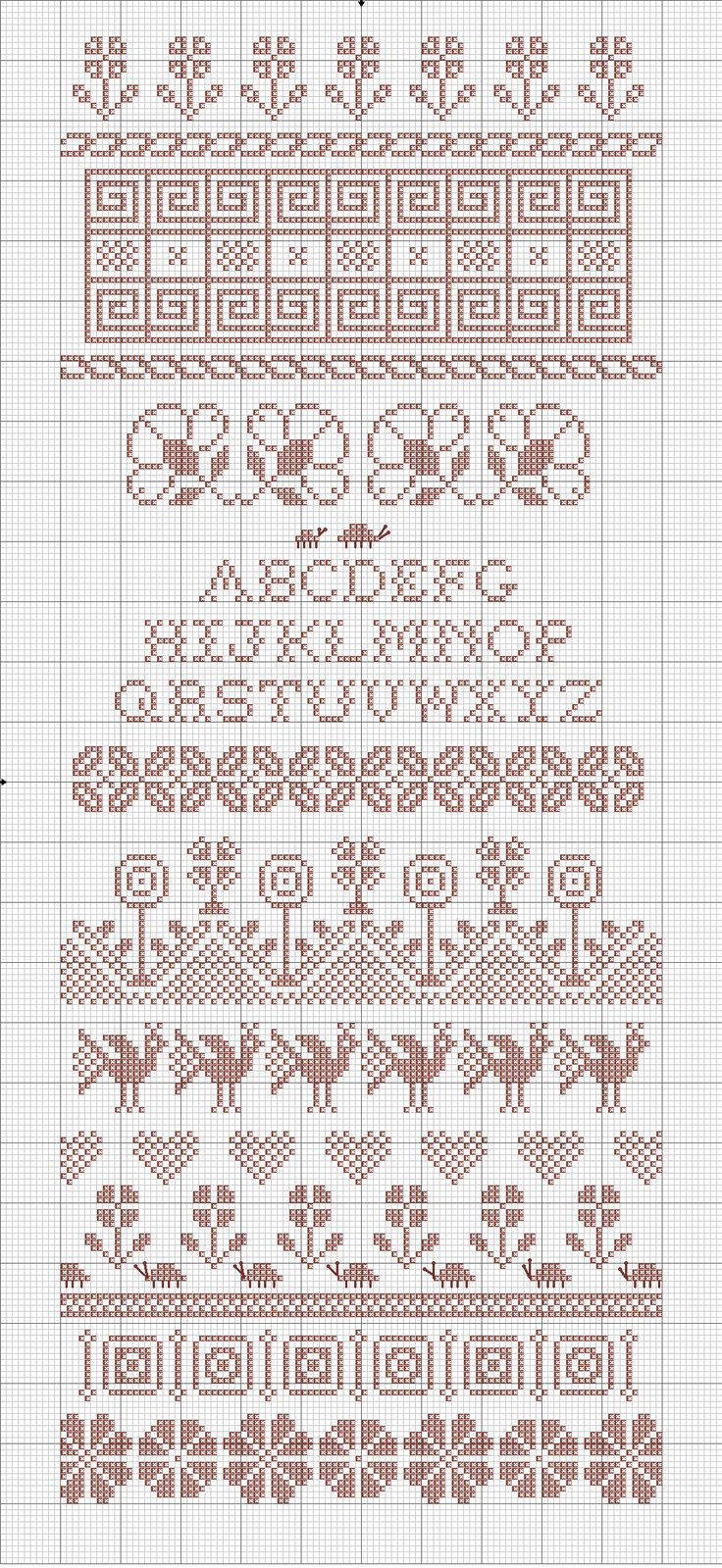 Freebie: Spring Plantings single color sampler  Pick your favorite color and enjoy some Spring Plantings!   The design is released under my copyright for your personal stitching pleasure only, and not for any commercial use.