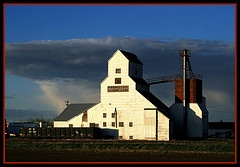 Grain elevator Barons, Alberta