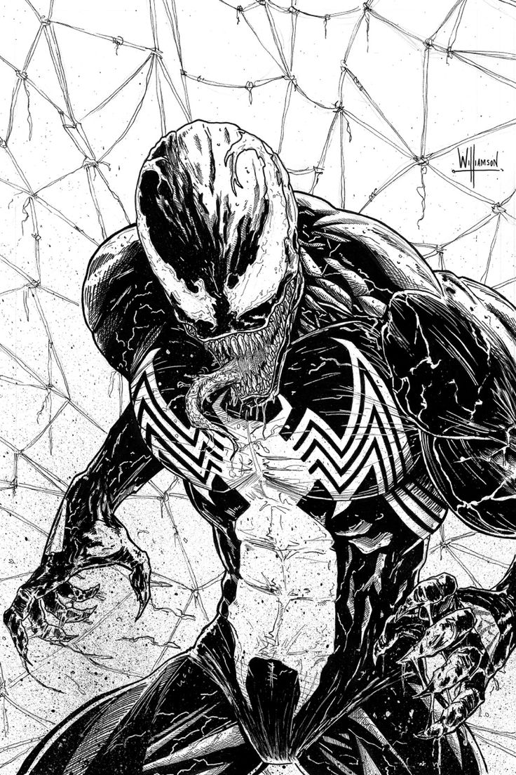 I imagine something like this: Spidey: Venom, calm down or I'll knock you out! Venom: BRING IT ON!!