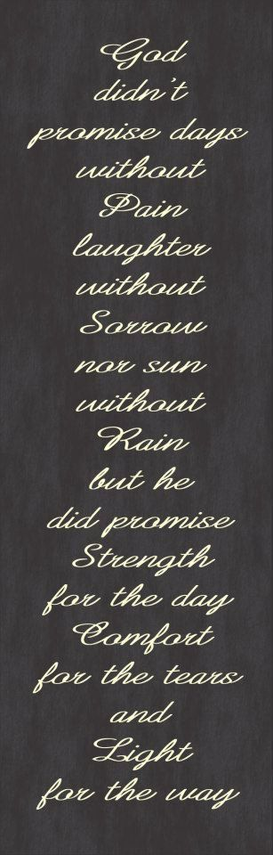 Canvas Gallery Wrap - Inspirational Quote - God didnt Promise...