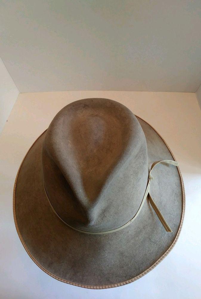The Gun Club by Stetson Size 54 6 3 4 XXXX Felt Western Cowboy Hat VTG  b1a18a358db
