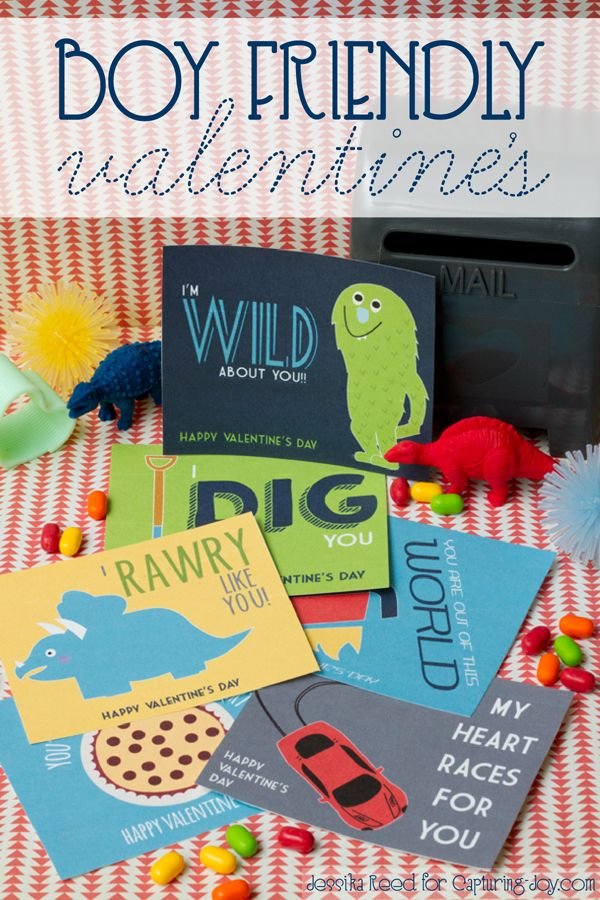 Free Boy Friendly Valentine's Printable on Capturing-Joy.com