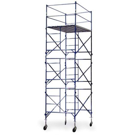Buffalo Tools 3-Story Rolling Scaffold Tower, Blue