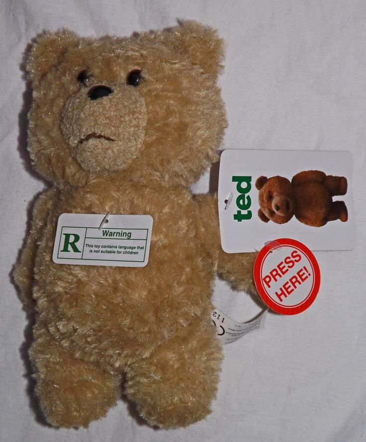 """2012  R rated Talking Ted 8"""" Plush, Bust Buy Exclusive, common wealth #CommonWealth"""