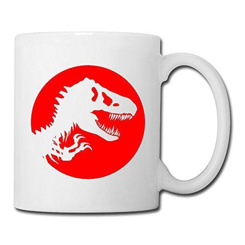 UniqueCool White Cups Jurassic Park Logo Sam Neill Foxes American Coffee Mugs White Coffee Mugs @ niftywarehouse.com #NiftyWarehouse #Geek #Gifts #Collectibles #Entertainment #Merch