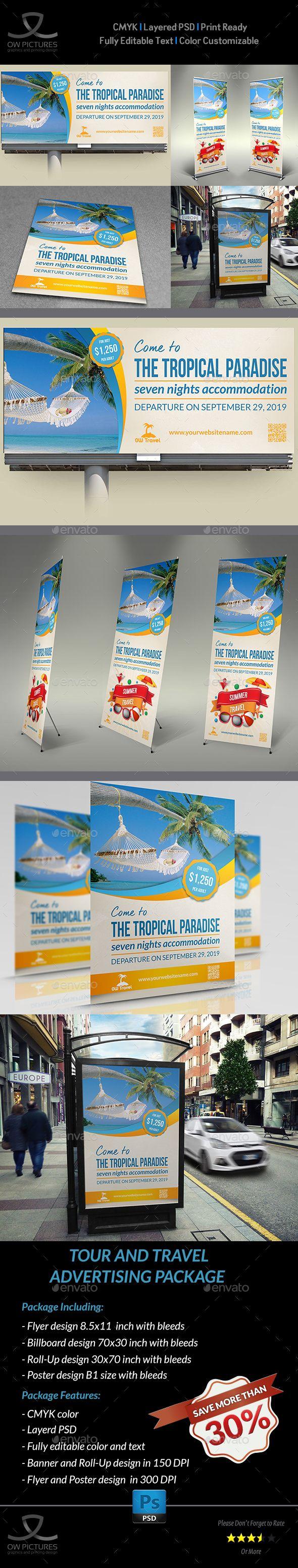 8 5x11 poster design - Tour And Travel Advertising Bundle