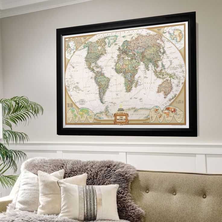Wexford Home Framed National Geographic Travel Map BF