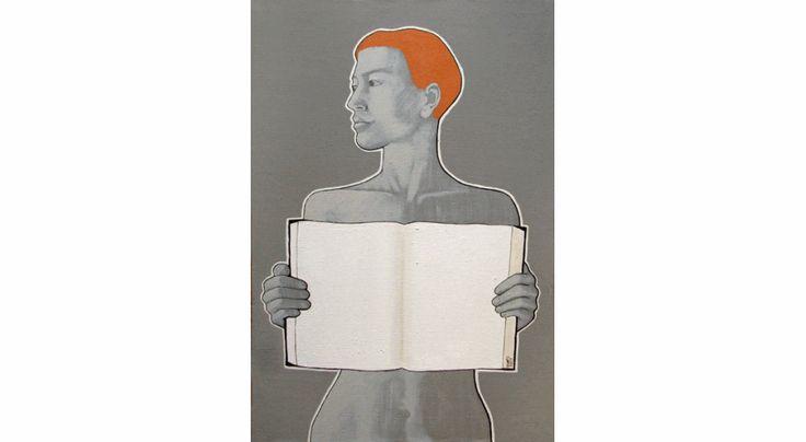 """""""otwarta"""" akryl na płótnie, 50 cm / 75 cm, 2013 rok, cena: 4200 zł"""