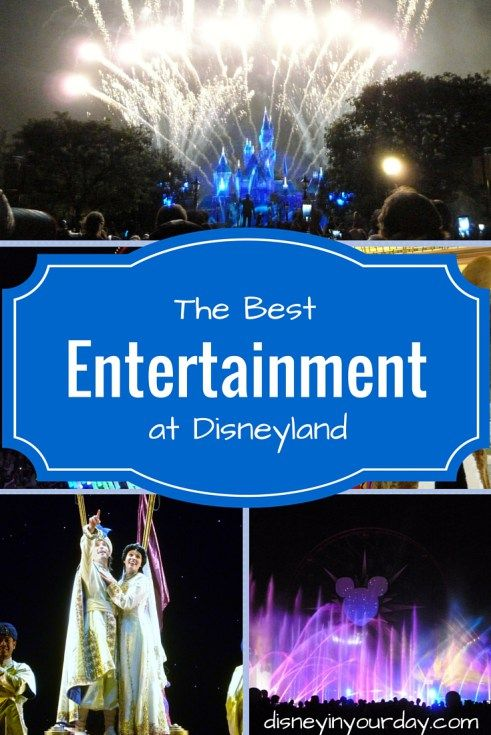 Entertainment at Disneyland - shows, fireworks, music, character interactions, and more!  Disney in your Day