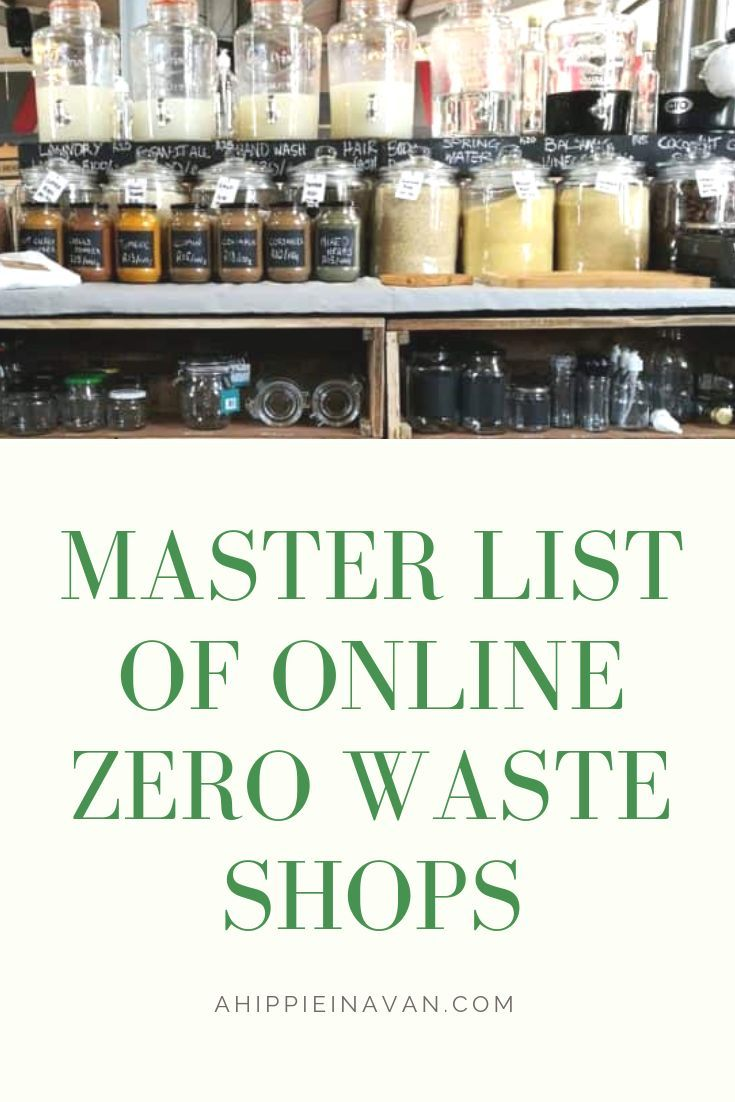 Master list of online zero waste stores! Please repin and share to spread to the zero waste community :) – Callee [Zero Waste Consultant + Hippie Haven Podcast Host]
