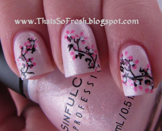 Glass Pink Cherry Blossoms: Glasses Pink, Art Addiction, Nails Art, Nails Design, Pink Nails, Nails Polish, Pink Cherries, Cherries Blossoms Beautiful, Cherry Blossoms
