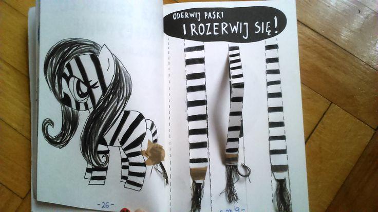 Podesłała Gabi #zniszcztendziennikwszedzie #zniszcztendziennik #kerismith #wreckthisjournal #book #ksiazka #KreatywnaDestrukcja #DIY