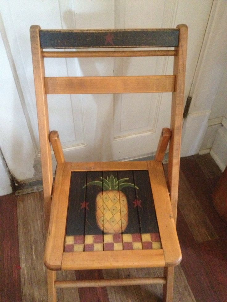 Hand painted pineapple chair