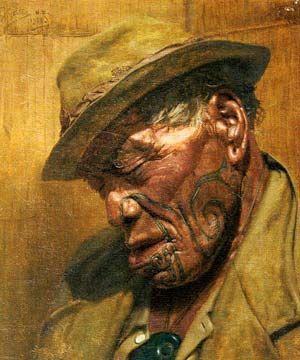 Charles Goldie's portrait of Maori Chief Hori Pokai