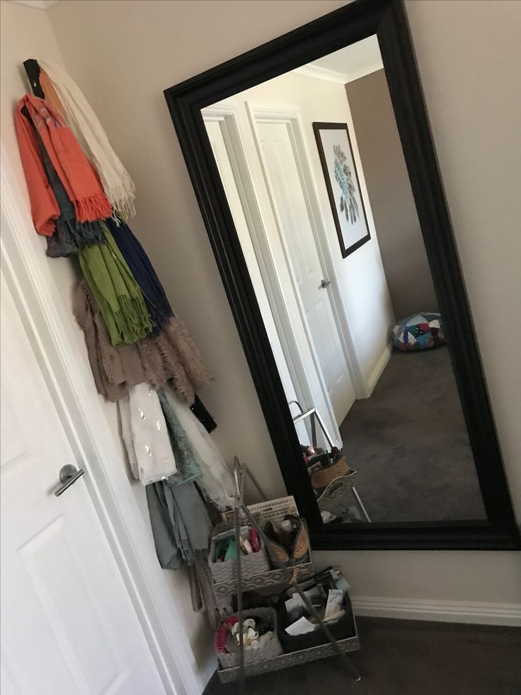Ikea mirror and scarf holder