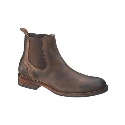 $290, Dark Brown Nubuck Chelsea Boots: Wolverine Montague Chelsea Boot Brown Boots W05452. Sold by TheShoeMart. Click for more info: https://lookastic.com/men/shop_items/99244/redirect