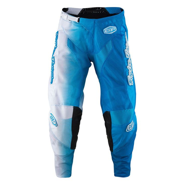 Troy Lee Designs GP Air 50/50 Youth Boys MX/Offroad Pants White/Blue #TroyLeeDesigns